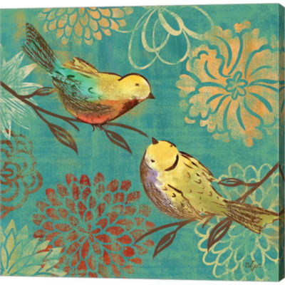 Metaverse Art Elegant Chickadee II by Rebecca LyonGallery Wrapped Canvas Wall Art