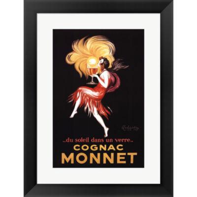 Metaverse Art Cognac Monnet Framed Print Wall Art