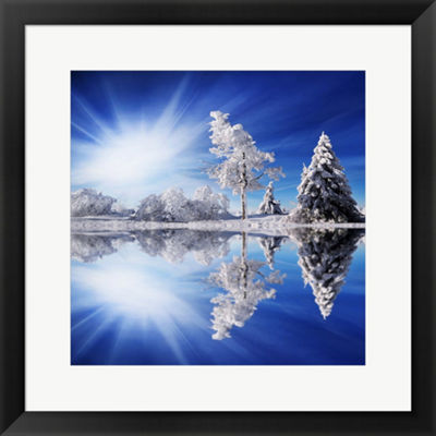 Metaverse Art Cold Light Framed Print Wall Art