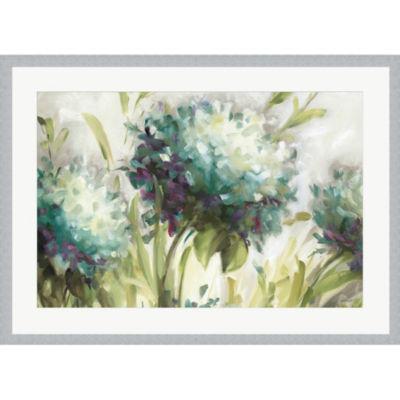 Metaverse Art Hydrangea Field Framed Print Wall Art