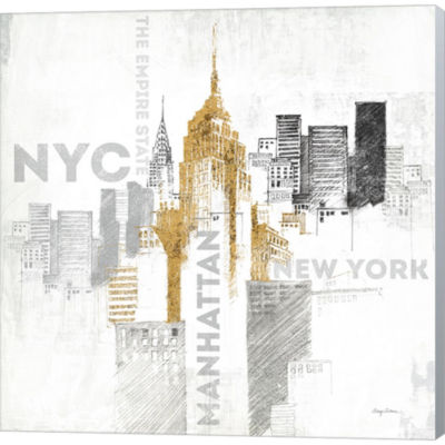 Empire State Building Gallery Wrapped Canvas WallArt On Deep Stretch Bars