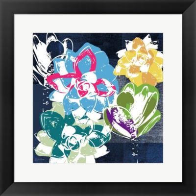 Colorful Succulents II Framed Print Wall Art