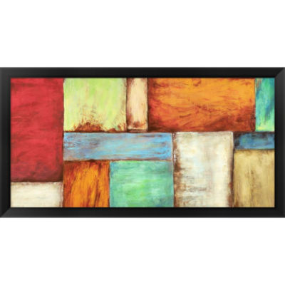 Metaverse Art Colors Of The Desert Framed Print Wall Art