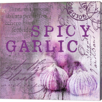 Metaverse Art Farmer's Market Garlic Gallery Wrapped Canvas Wall Art