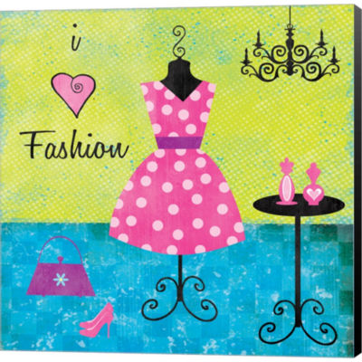 Fashion I Gallery Wrapped Canvas Wall Art On DeepStretch Bars