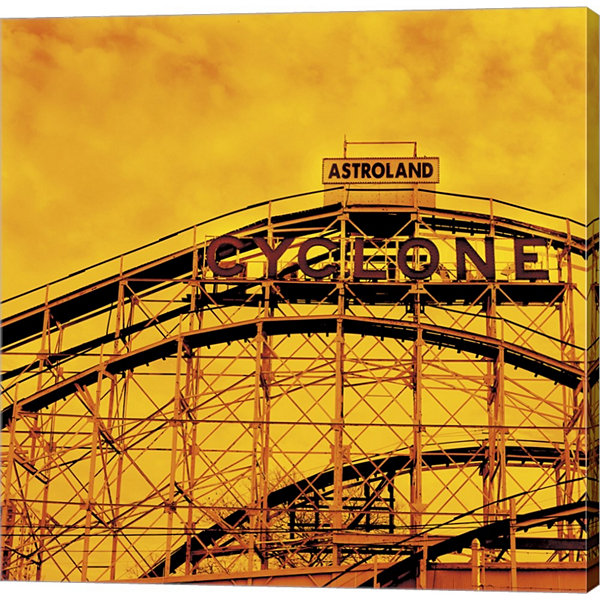 Flaming Cyclone Gallery Wrapped Canvas Wall Art OnDeep Stretch Bars