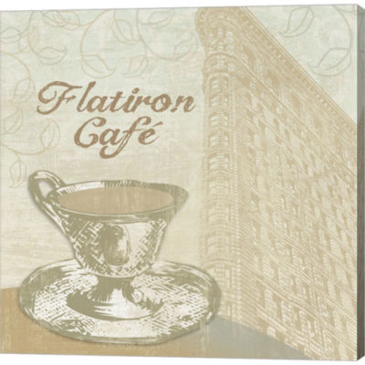 Flatiron Cafe Gallery Wrapped Canvas Wall Art On Deep Stretch Bars