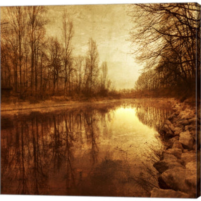 Floating Down The River Gallery Wrapped Canvas Wall Art On Deep Stretch Bars