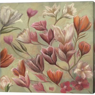 Floral Paradise Gallery Wrapped Canvas Wall Art OnDeep Stretch Bars