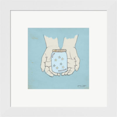 Metaverse Art Jar Of Wishes Framed Print Wall Art