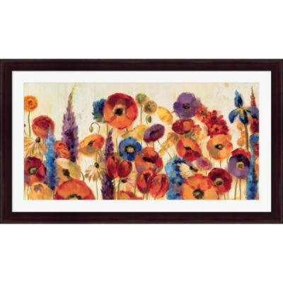 Metaverse Art Joyful Garden Framed Print Wall Art