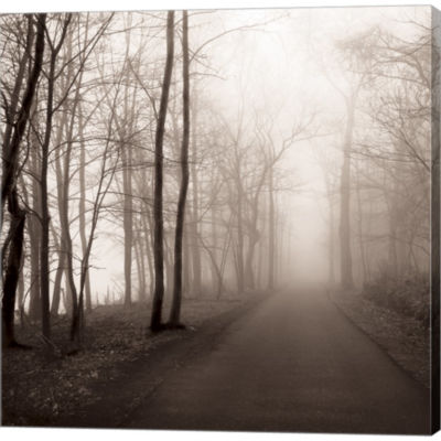 Metaverse Art Foggy Path Gallery Wrapped Canvas Wall Art