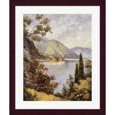 Metaverse Art Lake Como Framed Print Wall Art