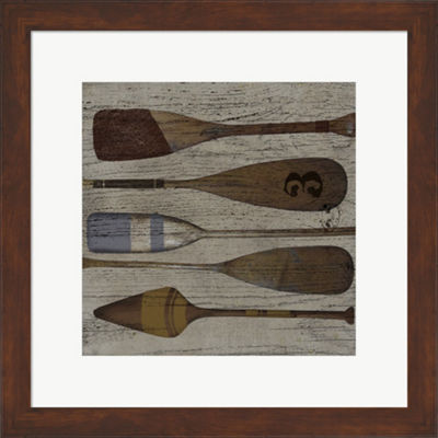 Metaverse Art Lake Oars III Framed Print Wall Art