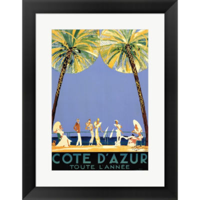 Cote D'Azu Framed Print Wall Art
