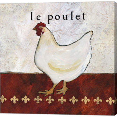 French Country Kitchen II Le Poulet Gallery Wrapped Canvas Wall Art On Deep Stretch Bars