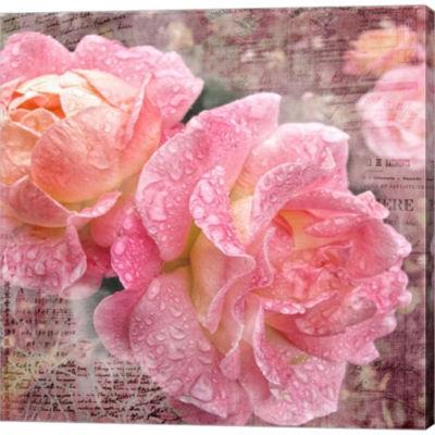 Metaverse Art Fresh Rose III Gallery Wrapped Canvas Wall Art