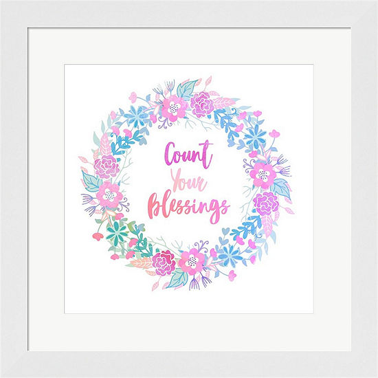 Metaverse Art Count Your Blessing-Pastel Framed Print Wall Art