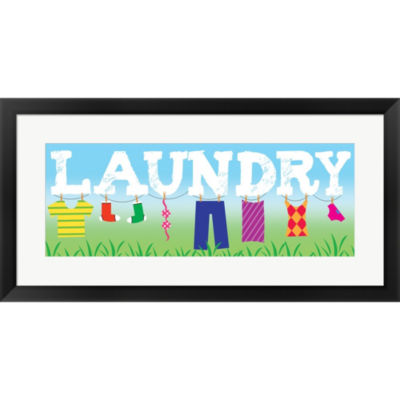 Metaverse Art Laundry Framed Print Wall Art