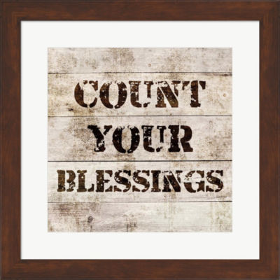 Metaverse Art Count Your Blessings In Wood FramedPrint Wall Art