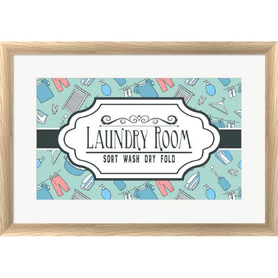Metaverse Art Laundry Room Sign Framed Print WallArt