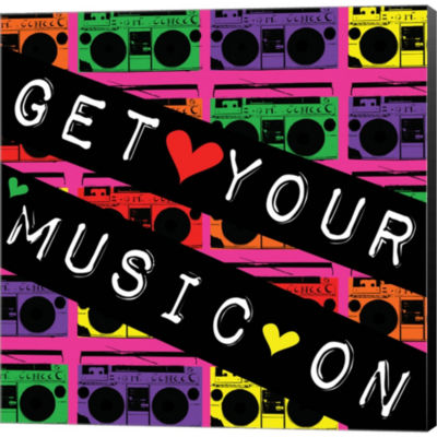 Metaverse Art Get Your Music On Gallery Wrapped Canvas Wall Art