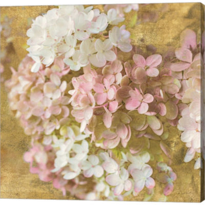 Metaverse Art Gilded Hydrangea II Gallery WrappedCanvas Wall Art