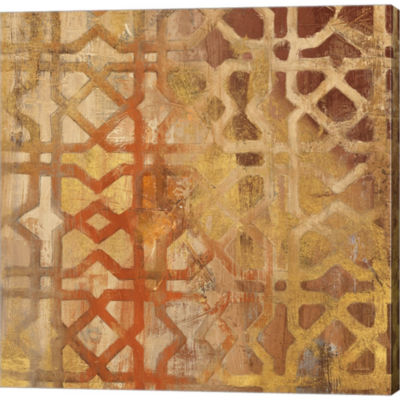 Metaverse Art Gilded Trellis I Gallery Wrapped Canvas Wall Art