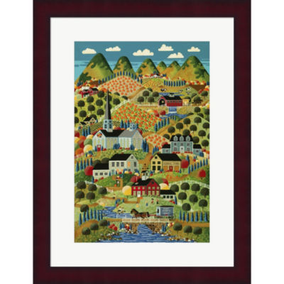 Country Town Framed Print Wall Art