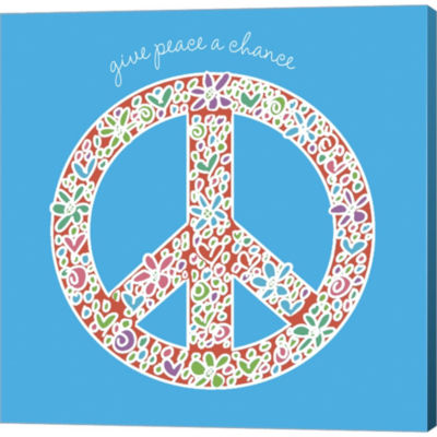 Metaverse Art Give Peace A Chance Gallery WrappedCanvas Wall Art