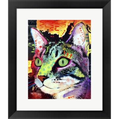 Metaverse Art Curiosity Cat Framed Print Wall Art