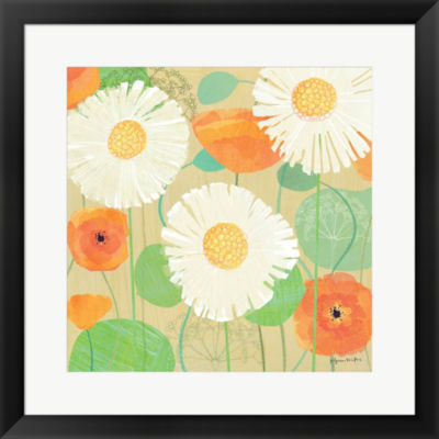Daisies And Poppies II Framed Print Wall Art