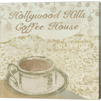 Metaverse Art Hollywood Coffee House Gallery Wrapped Canvas Wall Art