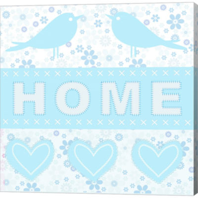 Metaverse Art Home Birds Gallery Wrapped Canvas Wall Art