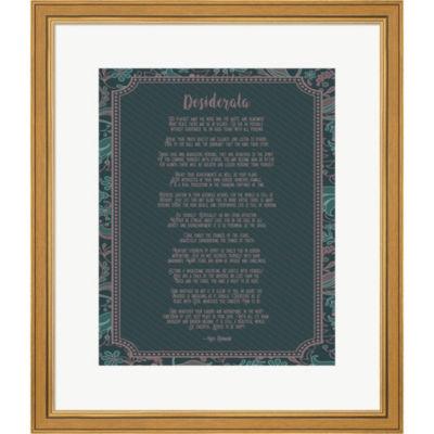 Metaverse Art Desiderata Floral Framed Print WallArt