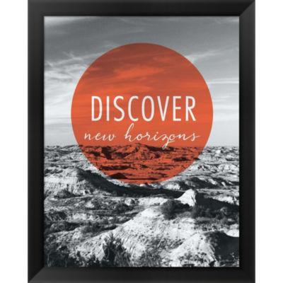 Discover New Horizons Framed Print Wall Art