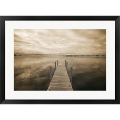 Metaverse Art Dock At Crooked Lake Conway Michigan09 Framed Print Wall Art