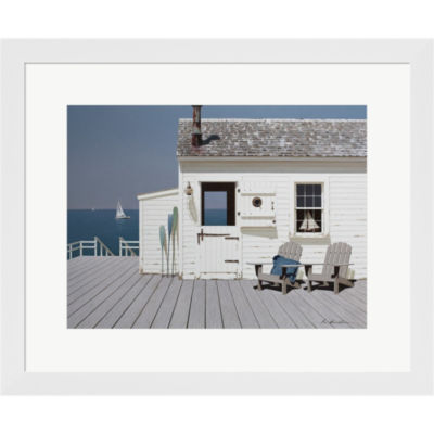 Metaverse Art Dock House Framed Print Wall Art