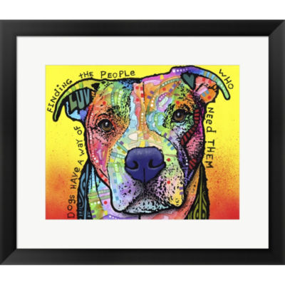 Metaverse Art Dogs Have A Way Framed Print Wall Art