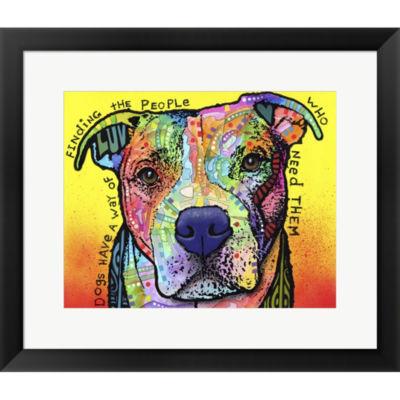 Metaverse Art Dogs Have A Way Framed Print Wall Art