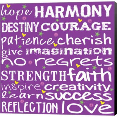 Hope Harmony Destiny Gallery Wrapped Canvas Wall Art On Deep Stretch Bars