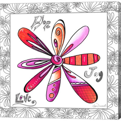 Metaverse Art Hope Joy Love Gallery Wrapped CanvasWall Art