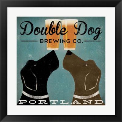 Metaverse Art Double Dog Brewing Co. Framed PrintWall Art
