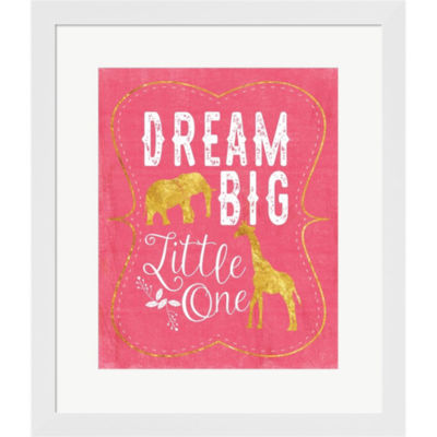 Dream Big Pink by Tammy Apple Framed Print Wall Art