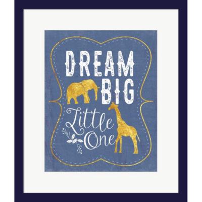 Dream Big Blue by Tammy Apple Framed Print Wall Art