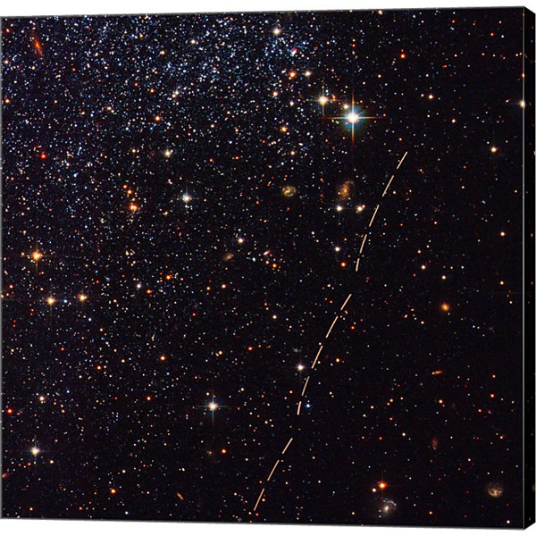 Metaverse Art Hubble Tracks Asteroid's Sky Trek Gallery Wrapped Canvas Wall Art