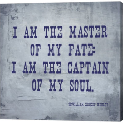 Metaverse Art I Am The Master Of My Fate: I Am TheCaptain Of My Soul Invictus Gallery Wrapped Canvas Wall Art