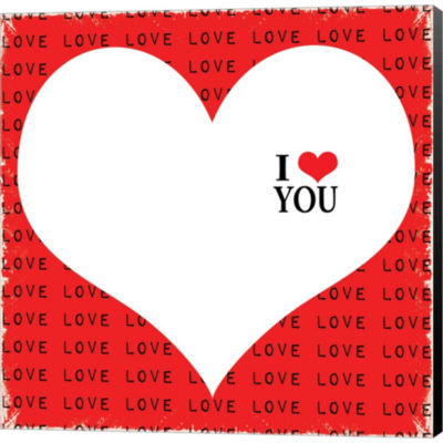 Metaverse Art I Love You Gallery Wrapped Canvas Wall Art
