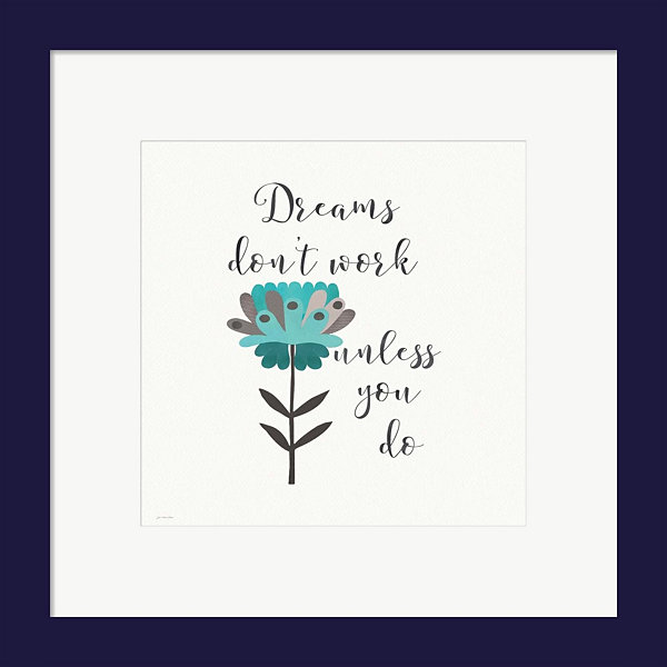 Metaverse Art Dreams Don't Work Framed Print WallArt