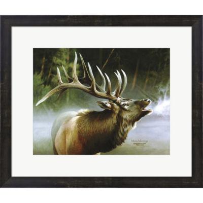 Metaverse Art Elk In Mis Framed Print Wall Art